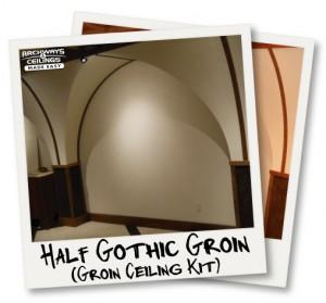 Half Gothic Groin Vault Arched Ceiling Kit. U201c